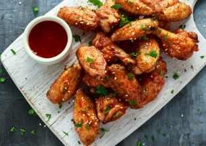 Selection of tasty Chicken Wings