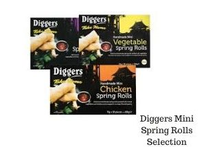 Diggers mini spring rolls party food