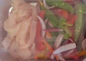 Fresh Chicken breast stirfry strips with crunchy veg